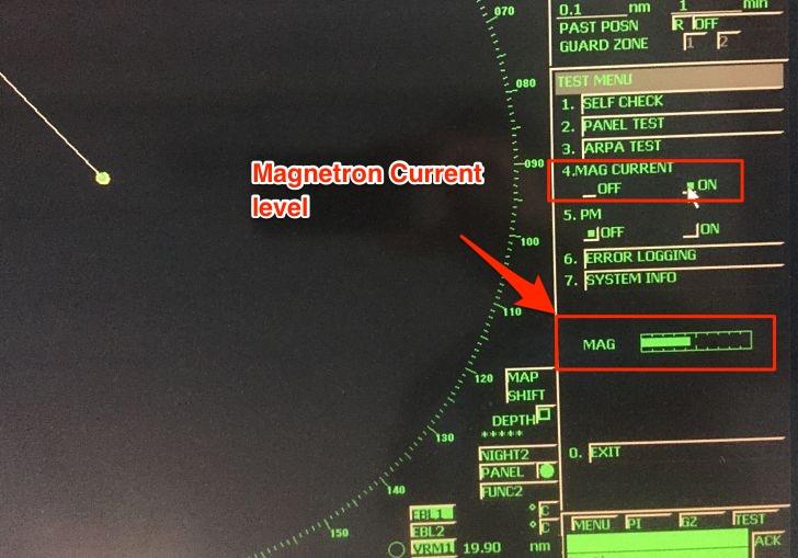 Magnetron current level