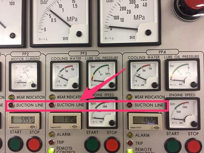 Suction line close alarm on Framo panel