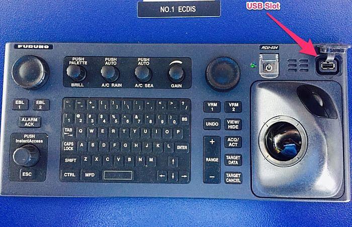 Furuno ECDIS USB Slot for ENC
