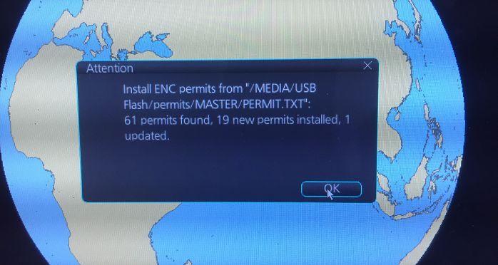 Installed ENC permit on Furuno ECDIS