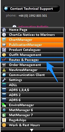 Routes and passages in chartco options