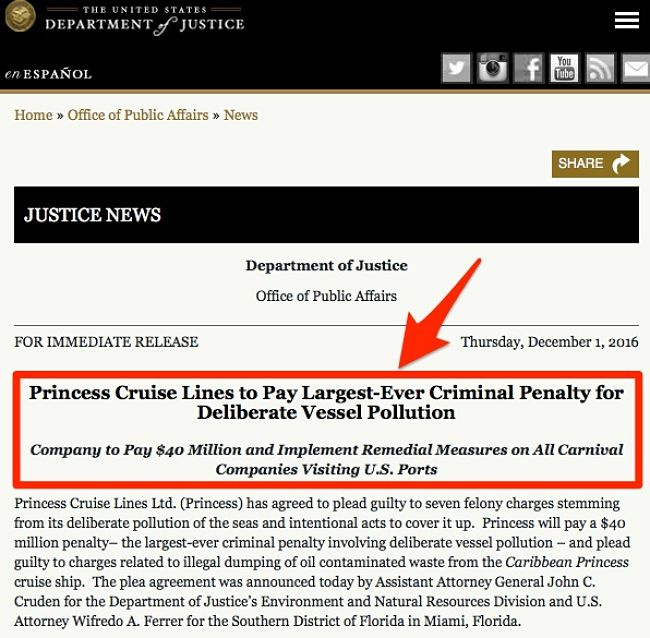 Largest criminal penalty for mapol violations